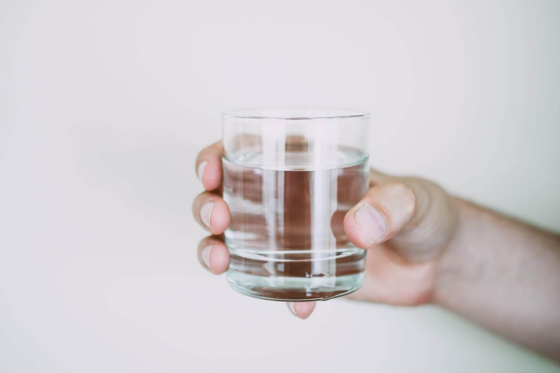 Distilled water in glass