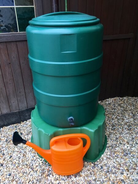 rain-barrel to collect water for plants