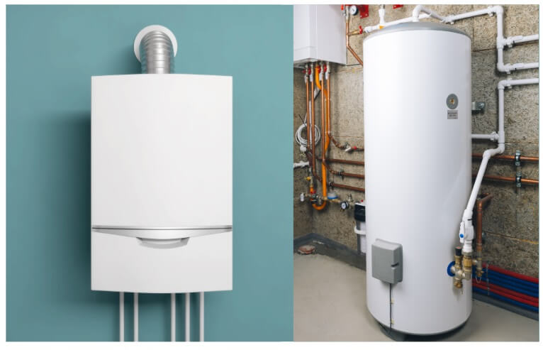 Tankless heater or storage tank water heater