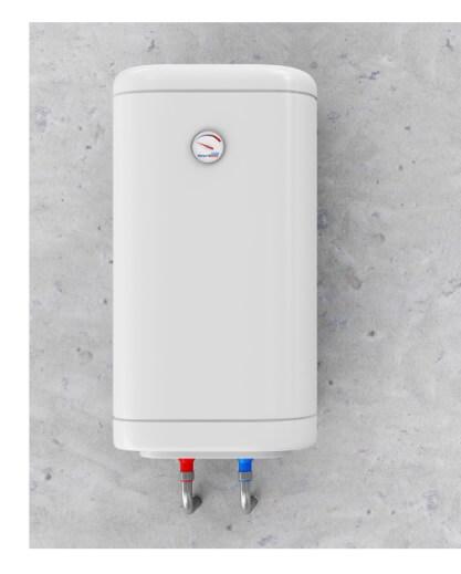 Tankless water heater closeup