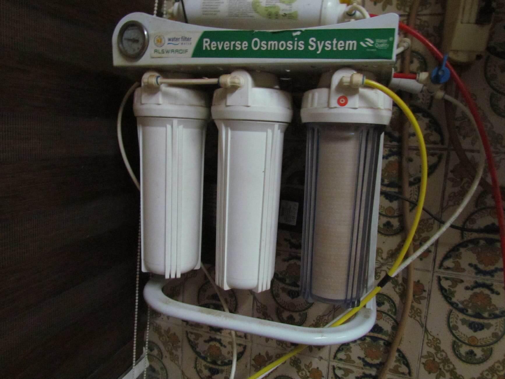 Reverse Osmosis System Closeup