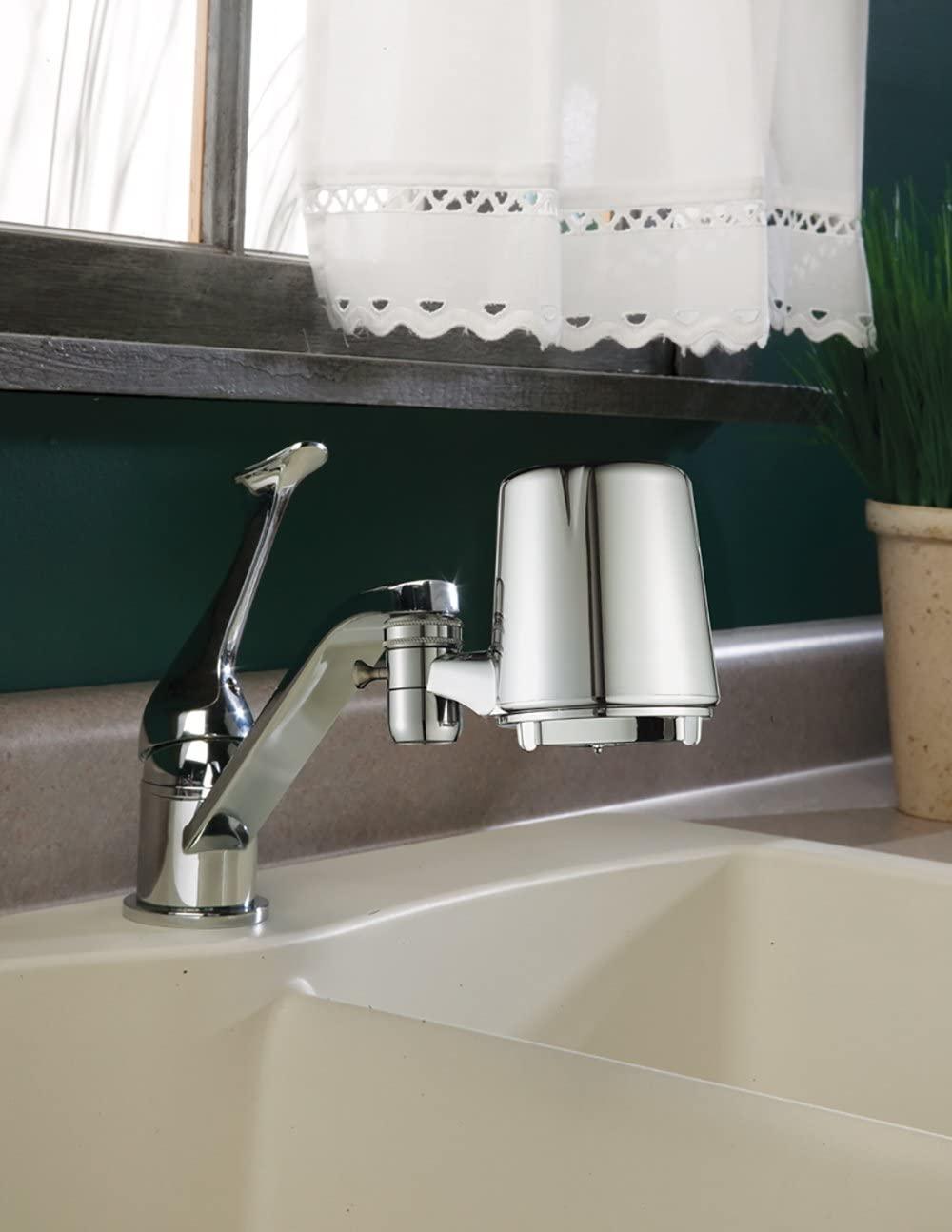 faucet filter close up