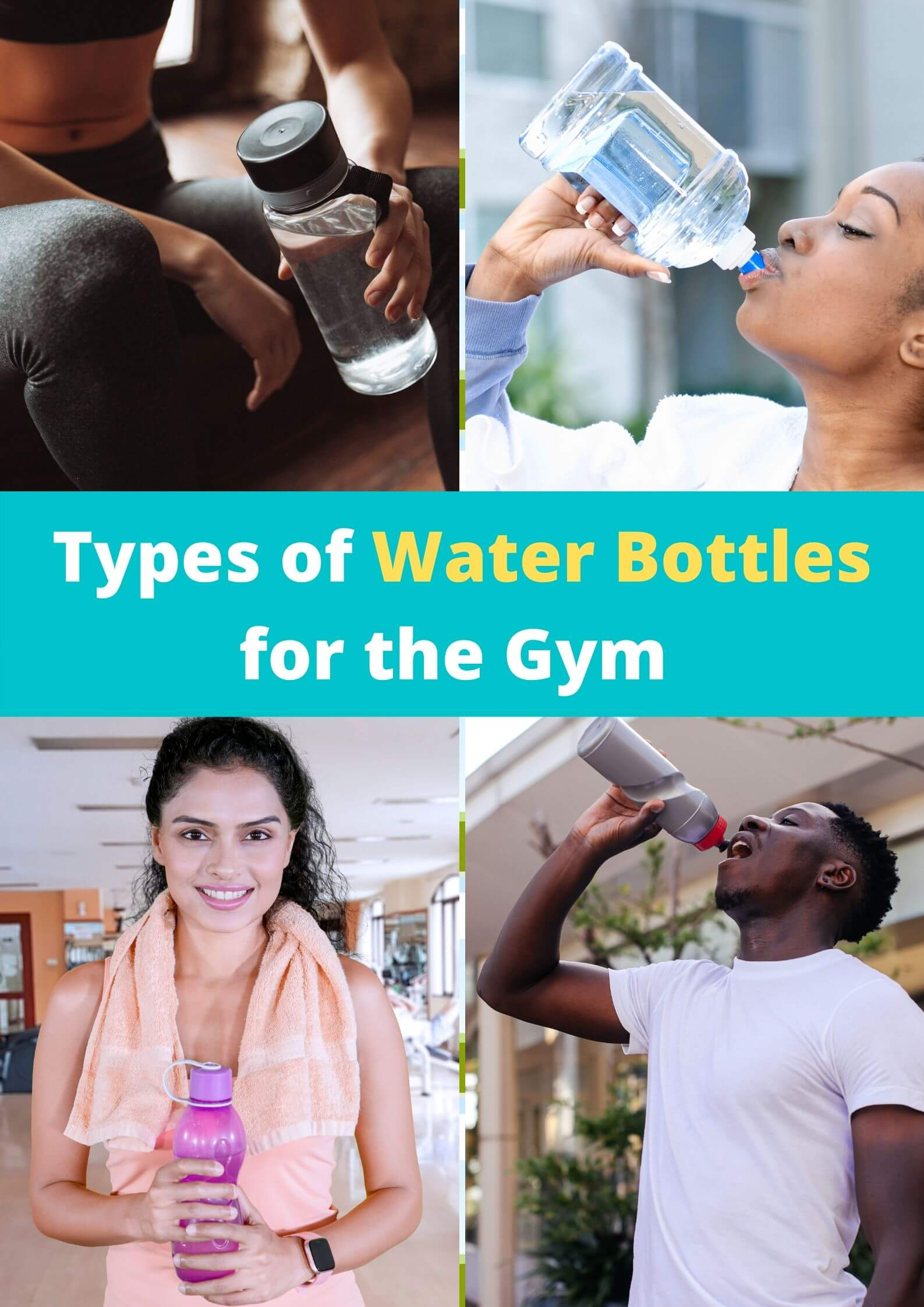Water bottle for the gym