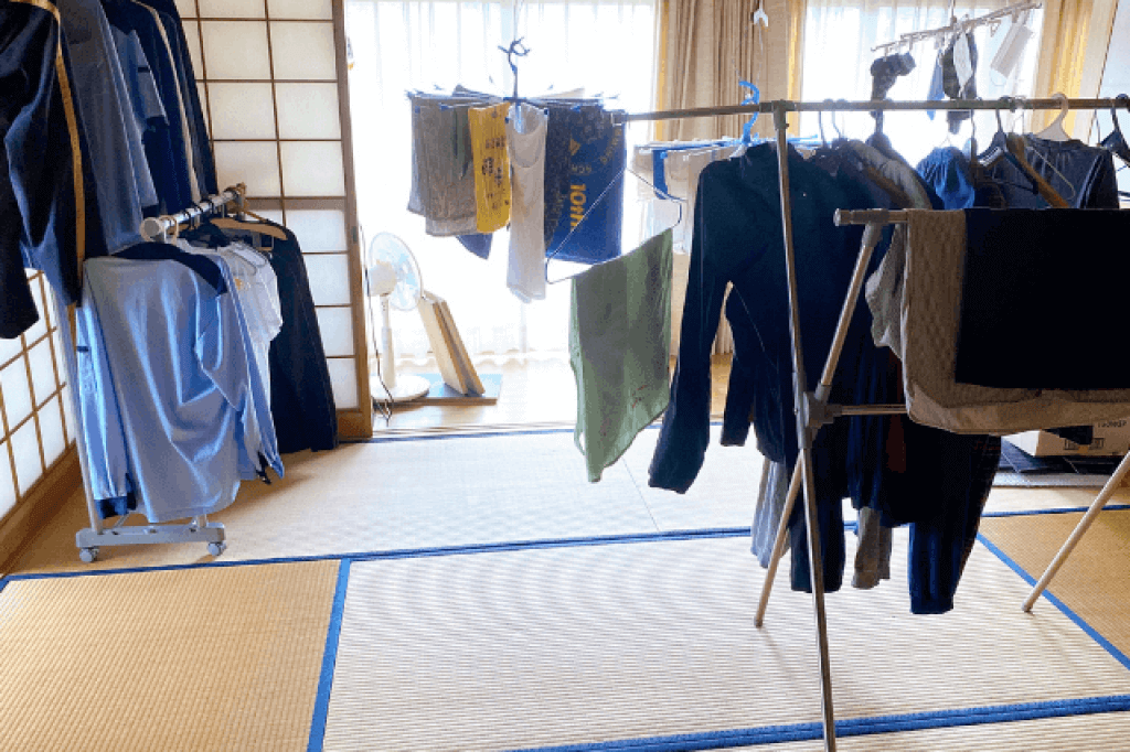 Air-dry laundry indoors